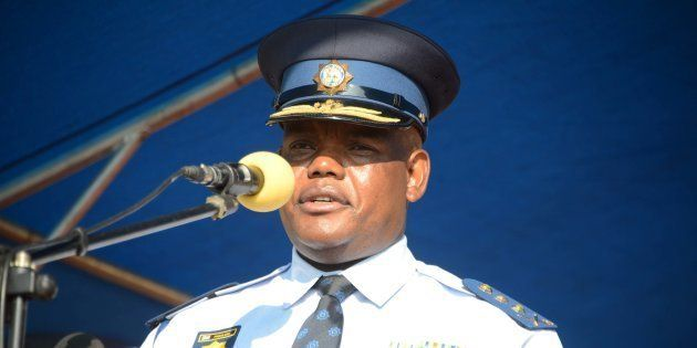 Acting National Commissioner Khomotso Phahlane during his official welcoming parade on April 04, 2017...