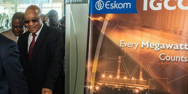 Jacob Zuma, South Africa's president visits the headquarters of Eskom Holdings SOC Ltd. at Megawatt Park...