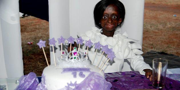 Ontlametse Phalatse during her 16th birthday on May 2,