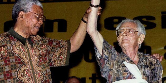 Former president Nelson Mandela and Joe