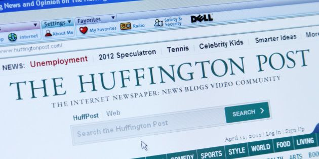 'Palm Springs, California, USA - April 11, 2011: A screen capture of The Huffington Post, an online newspaper,...