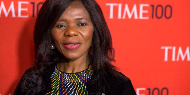 Honoree and human rights lawyer, Thuli Madonsela arrives at the Time 100 gala celebrating the magazine's...