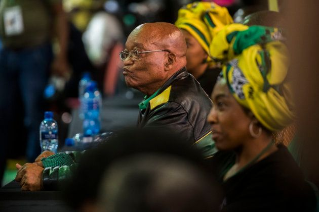 Considering his options . . . President Jacob Zuma listening to the results of the leadership contest...