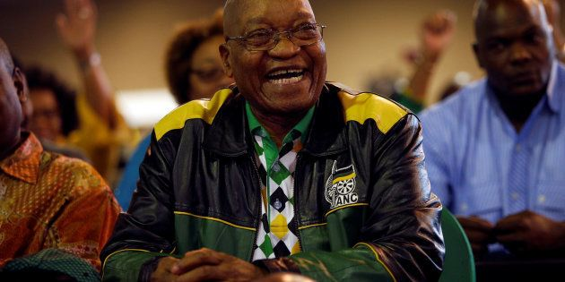 President Zuma reacts during the closing address at the ANC's 54th national conference. December 21,