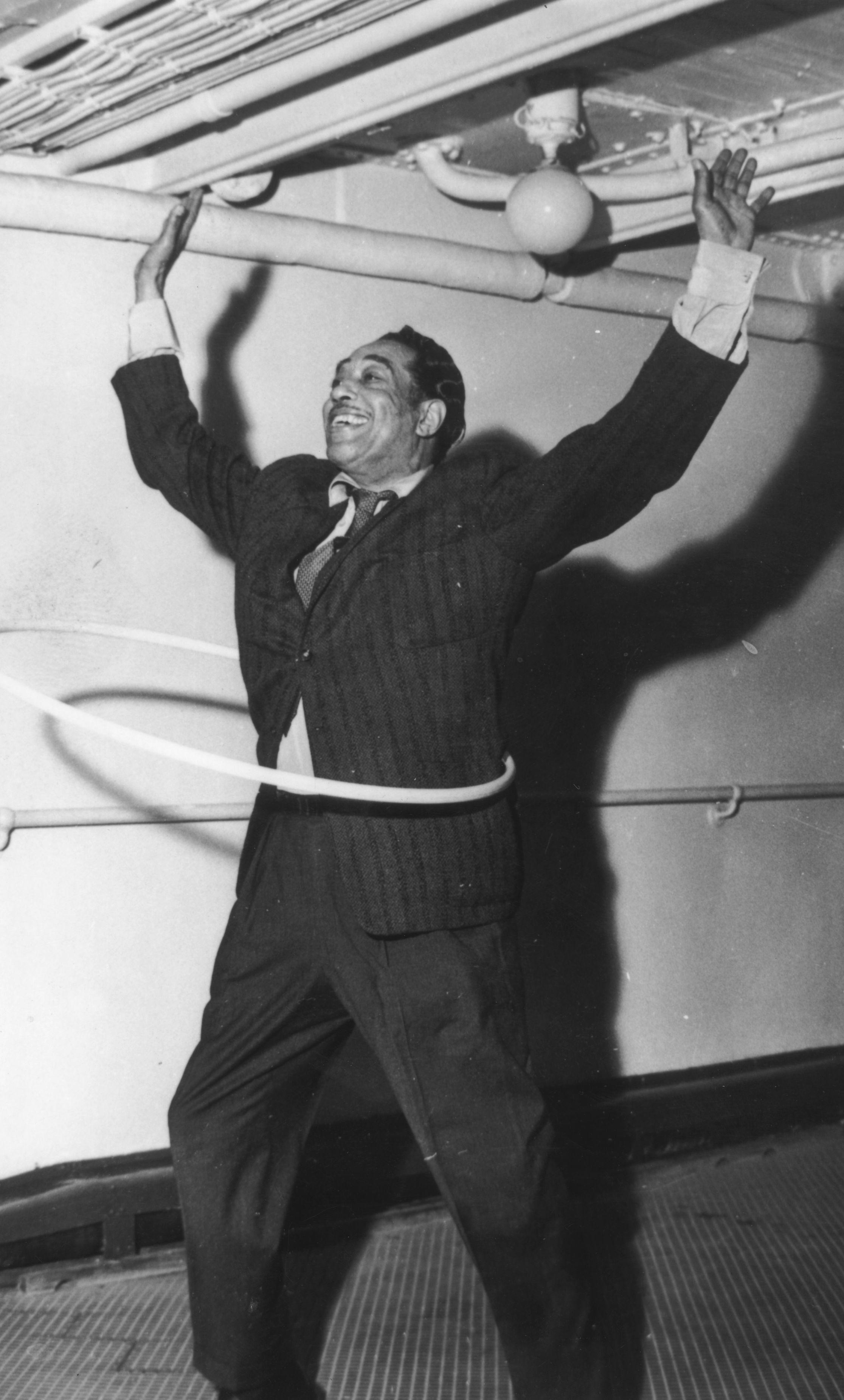 Duke Ellington hoops it up in 1958.