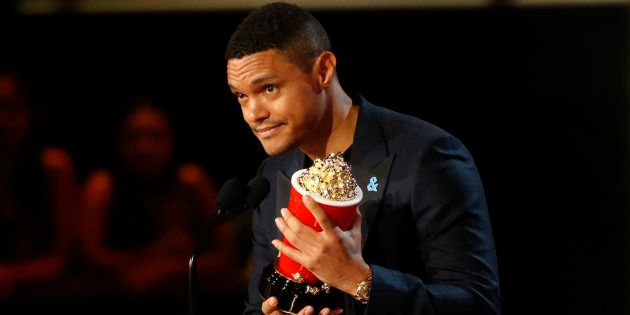 Trevor Noah accepts the award for Best Host at the 2017 MTV Movie and TV Awards