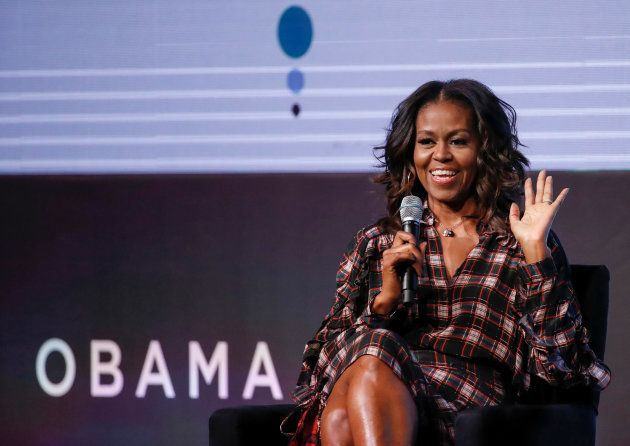 Former First Lady Michelle Obama speaks during the first Obama Foundation Summit in Chicago, Illinois...