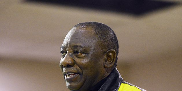 Ramaphosa was clearly well-received, with union members introducing the presidential hopeful as