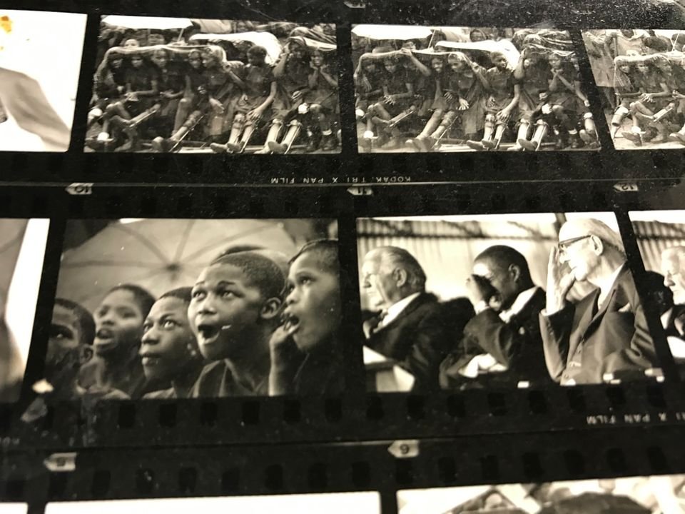 An undated series of images documenting the visit by South African (ceremonial) state president Jim Fouche...