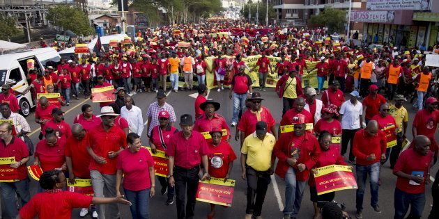 Leaders of the Congress of South African Trade Unions (COSATU) and the South African Communist Party...