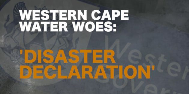 Zille Declares Western Cape 'Disaster