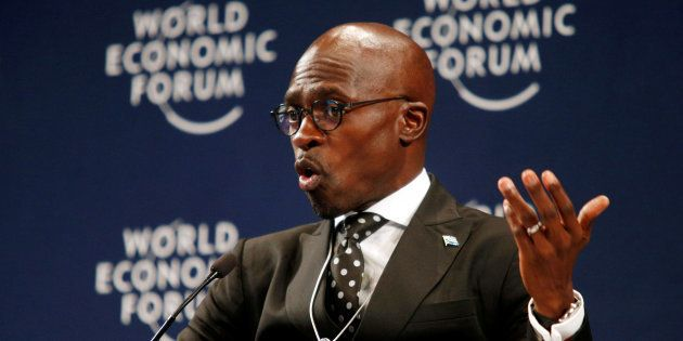 South Africa's Finance Minister Malusi Gigaba speaks at the World Economic Forum on Africa 2017 meeting...
