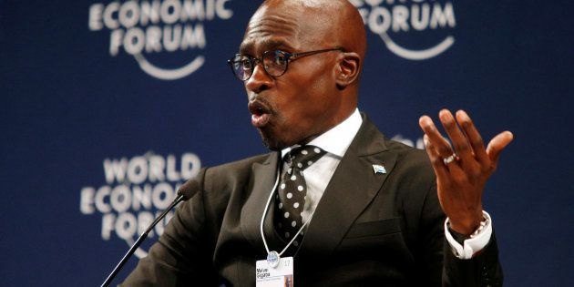 South African Finance Minister Malusi Gigaba speaks at the World Economic Forum on Africa 2017 in Durban...