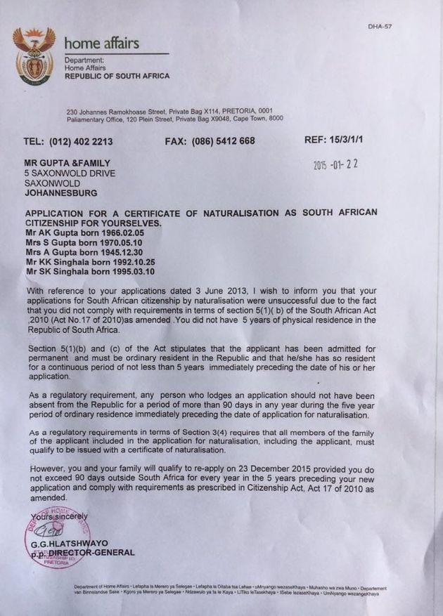 EFF: Malusi Gigaba Broke The Rules By Pushing Through The Guptas'