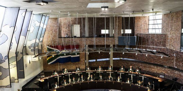 The Constitutional Court sits, on March 17, 2017, in Johannesburg to deliver a ruling to resolve the...
