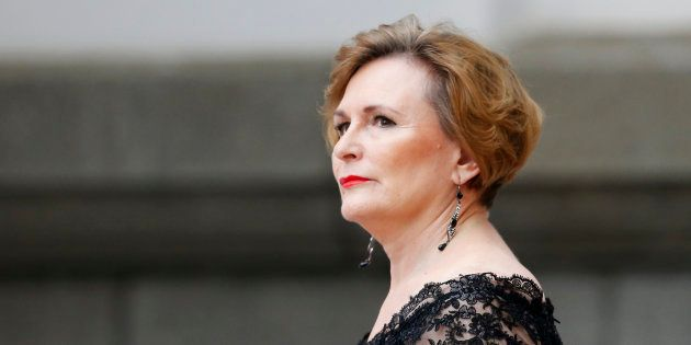 Premier of the Western Cape, Helen Zille arrives for President Jacob Zuma's Sate of the Nation address...