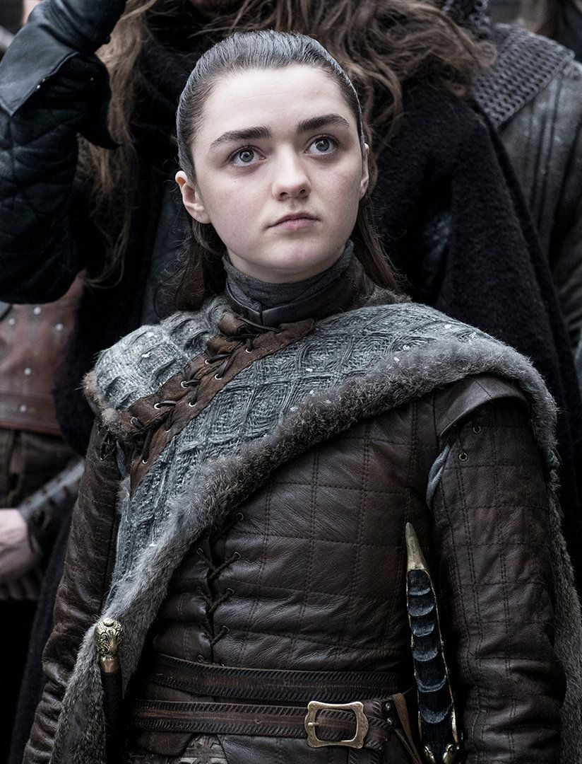 Arya might be concerned with the writing,