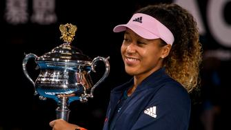 MELBOURNE, AUSTRALIA - JANUARY 26 : Naomi Osaka of  Japan celebrating winning the final on day 13 of the Australian Open on January 26 2019, at Melbourne Park in Melbourne, Australia.(Photo by Jason Heidrich/Icon Sportswire via Getty Images)