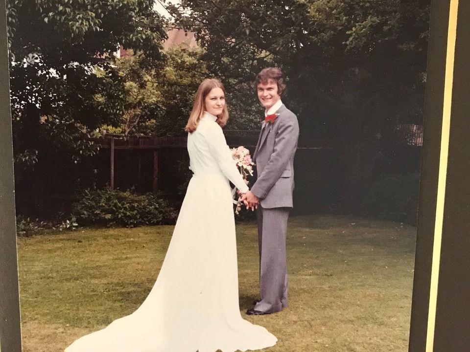 샐리와 리처드의 결혼식 사진.