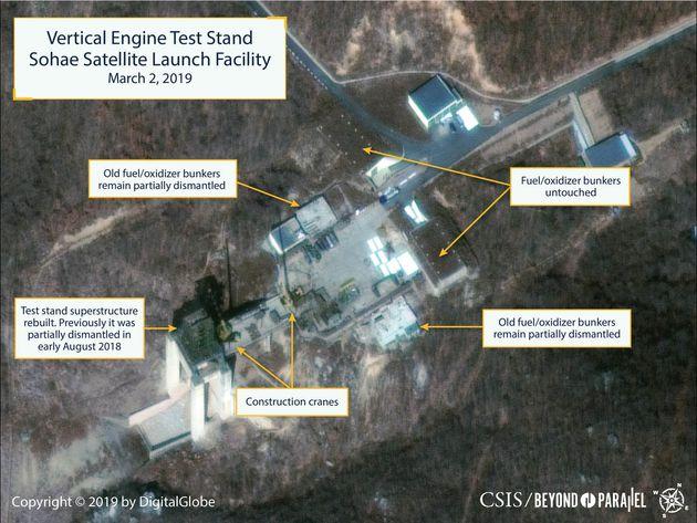 Satelliten-Aufnahmen des Testgeländes in