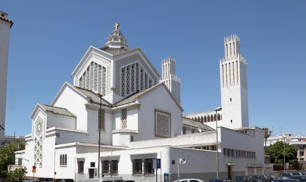 La cathédrale Saint-Pierre de Rabat est en ce moment en travaux avant la venue du