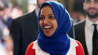 In this Feb. 5, 2019 photo, Rep. Ilhan Omar, D-Minn., arrives for President Donald Trump's State of the Union address to a joint session of Congress on Capitol Hill in Washington. Omar's latest remarks about Israel are prompting House Democrats to draft a resolution condemning anti-Semitism.  (AP Photo/Carolyn Kaster)