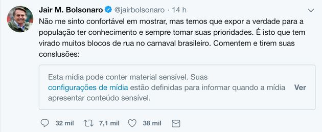 Vídeo com pornografia postado por Bolsonaro é