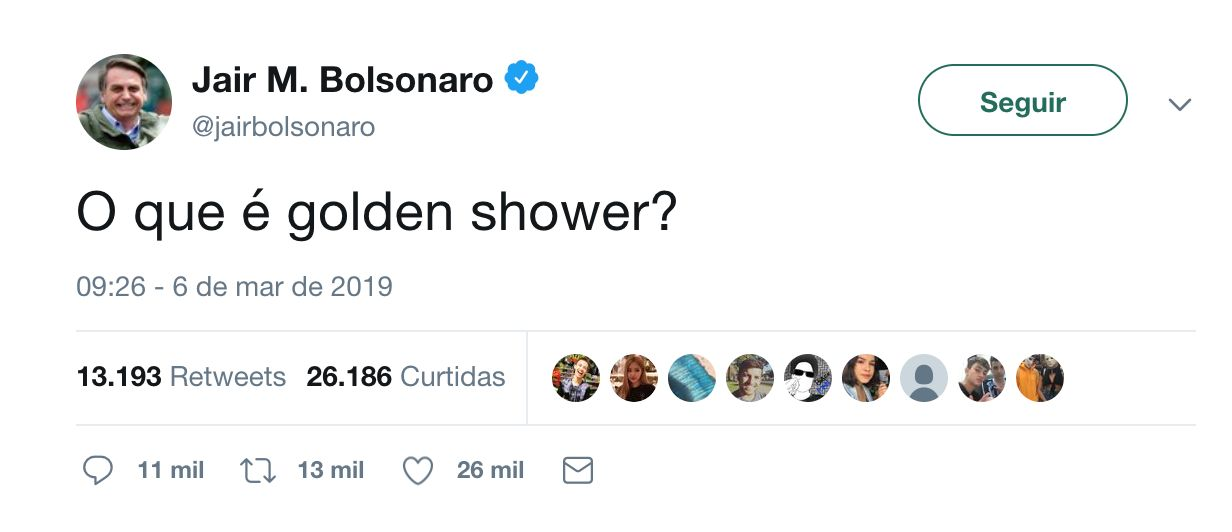 Vídeo postado por Bolsonaro é denunciado. Twitter do Presidente não para