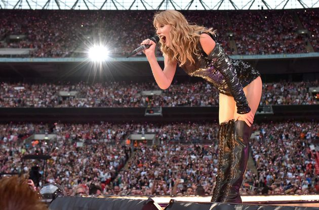 Taylor's London dates were at Wembley while in Manchester she performed at the Etihad