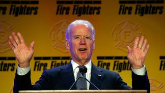 U.S. Vice President Joe Biden addresses the International Association of Fire Fighters (IAFF) Legislative Conference and Presidential Forum in Washington March 9,  2015. 