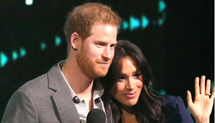 Prince Harry and Duchess Meghan fired up the crowd at a WE Day celebration in London.