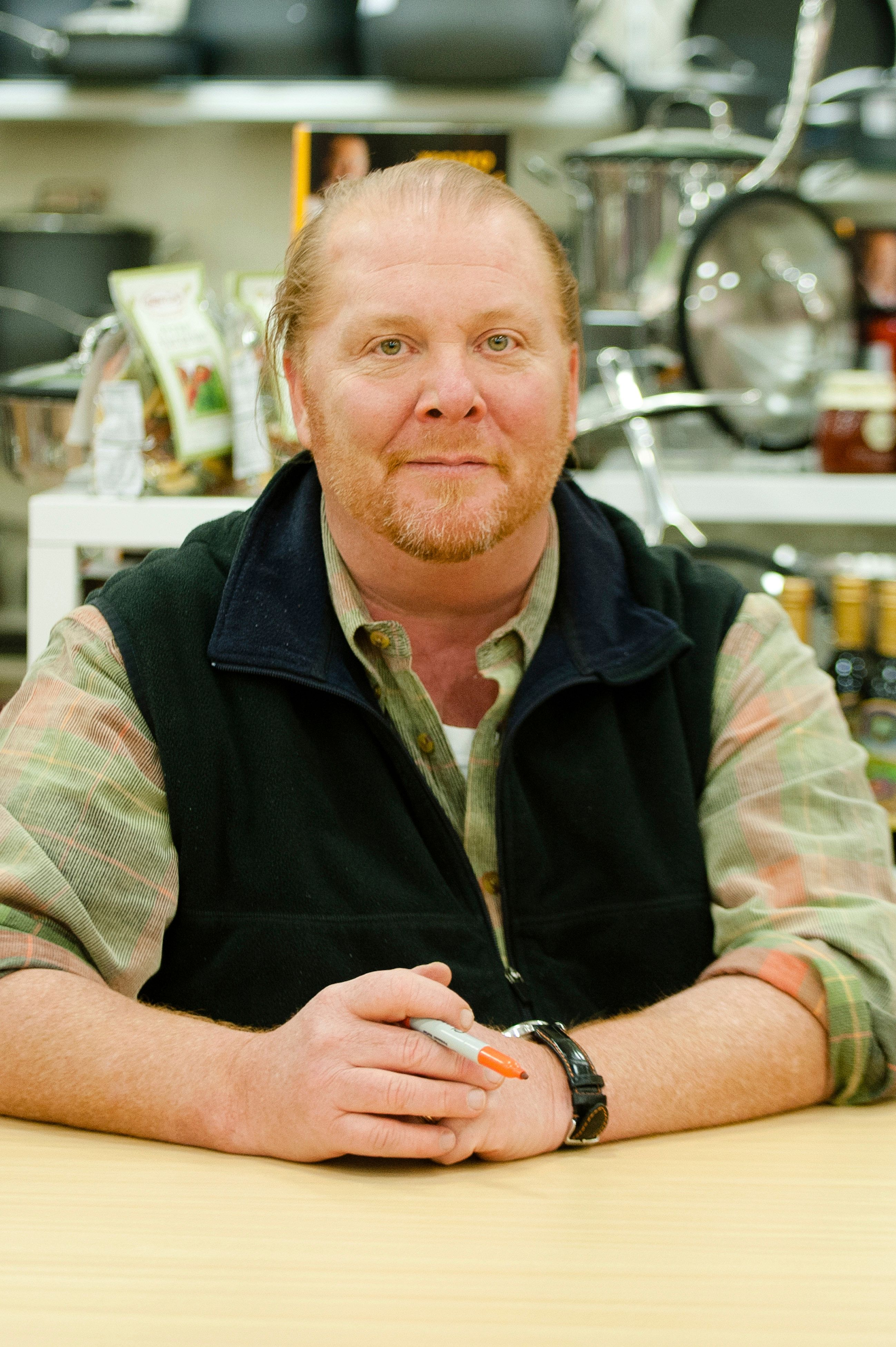 Mario Batali promotes his cookbook, Molto Batali Simple Family Meals at HomeGoods in New York City. January 19, 2012. © Kristen Driscoll / Mediapunch Inc. /IPX
