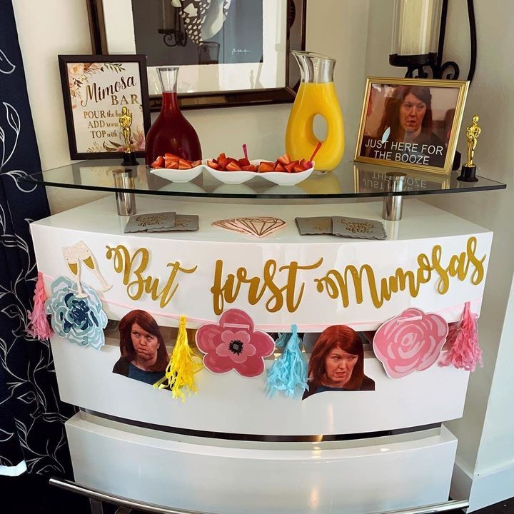 "A bridal shower based on ""The Office"" would not be complete without a Meredith-themed mimosa bar."