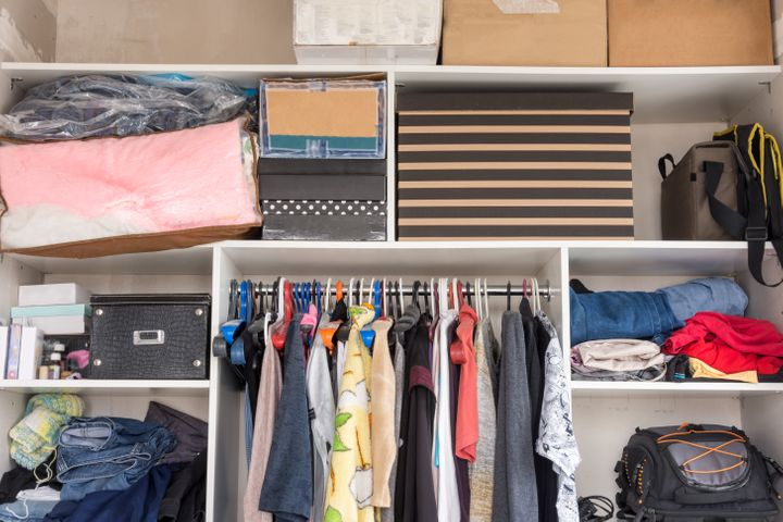 Here S How To Organize A Small Closet On A Budget Huffpost Life