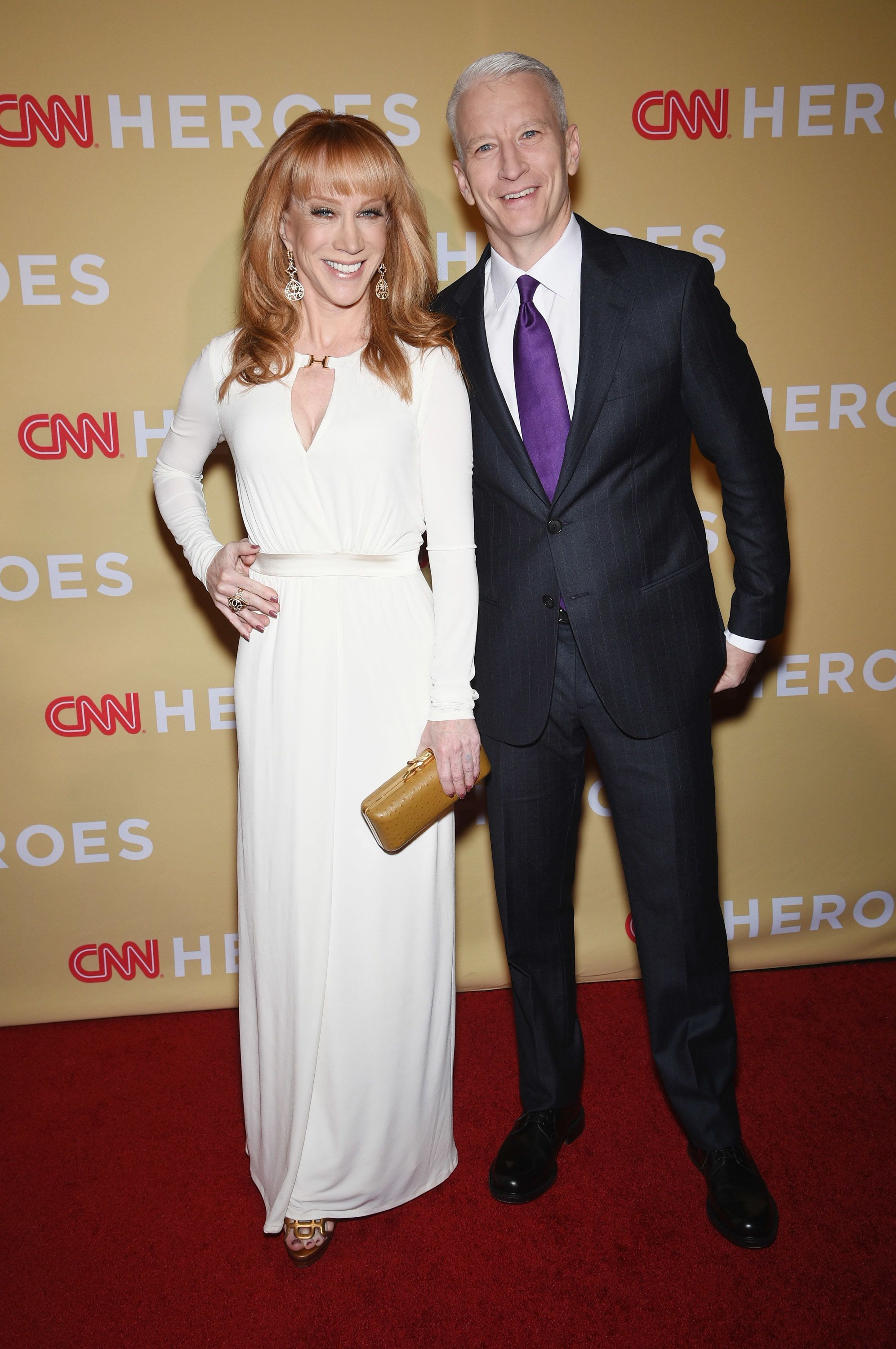 NEW YORK, NY - NOVEMBER 18:  Kathy Griffin and Anderson attend the 2014 CNN Heroes: An All Star Tribute at American Museum of Natural History on November 18, 2014 in New York City.  25214_002_0328.JPG  (Photo by Dimitrios Kambouris/WireImage for CNN)