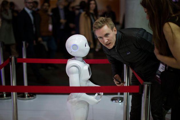 Ρομπότ που λειτουργεί...