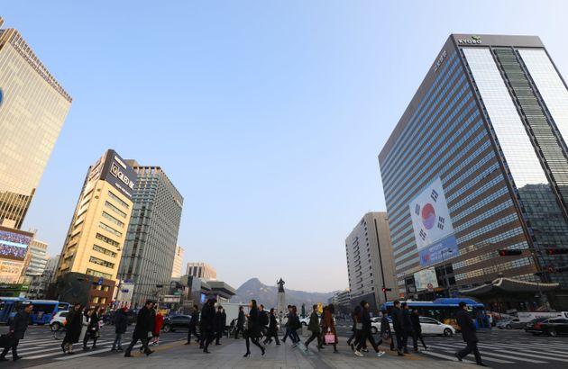 서울이 8일 만에 '파란 하늘'을