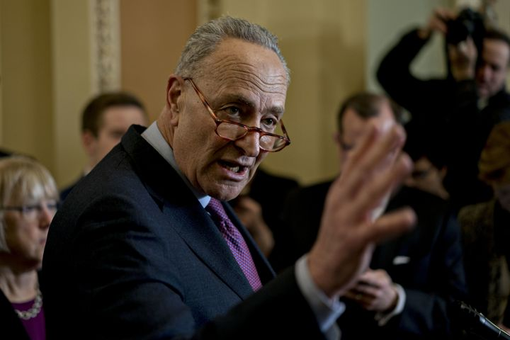 Senate Minority Leader Chuck Schumer (D-N.Y.) highlighted Democratic voting priorities in the Senate on Thursday.