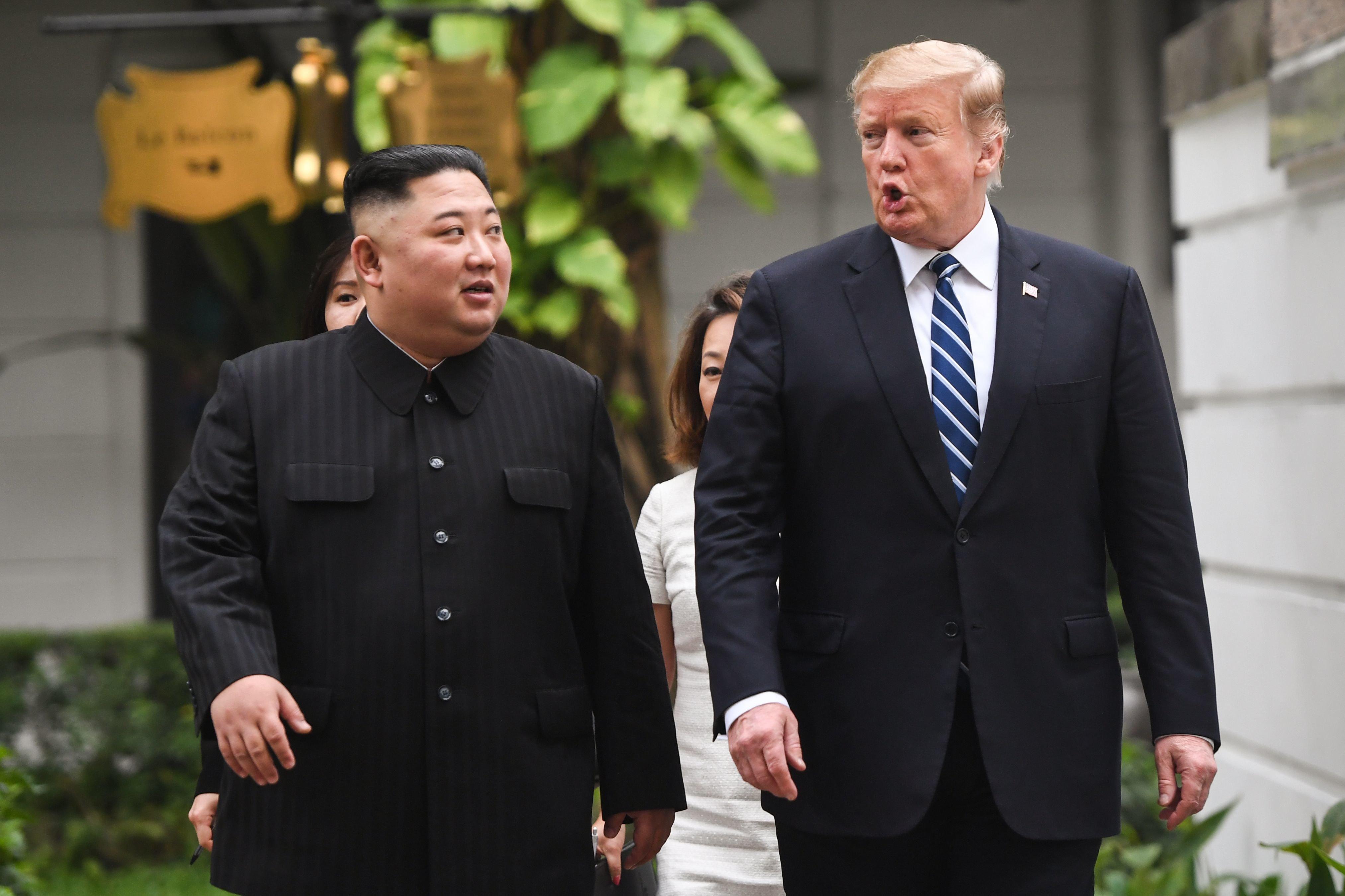 트럼프가 '북한 동창리 발사대 복구중' 보도에 대한 입장을