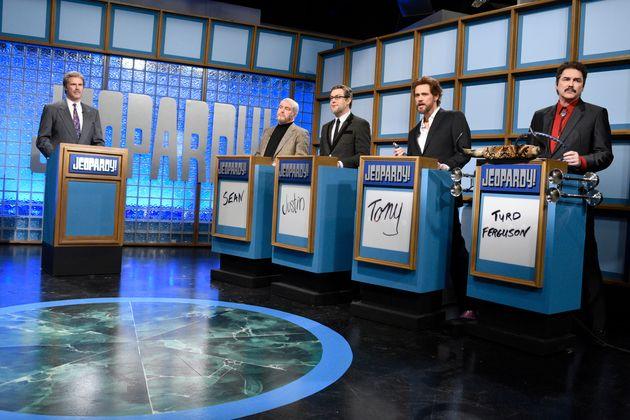 "Will Ferrell as Trebek in a ""Saturday Night Live"""