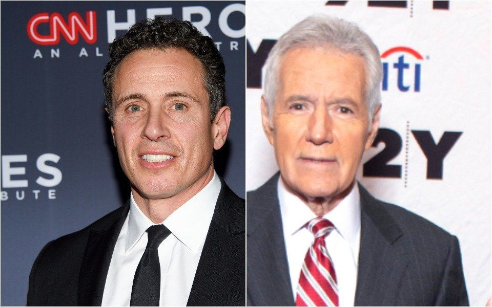 Chris Cuomo and Alex Trebek
