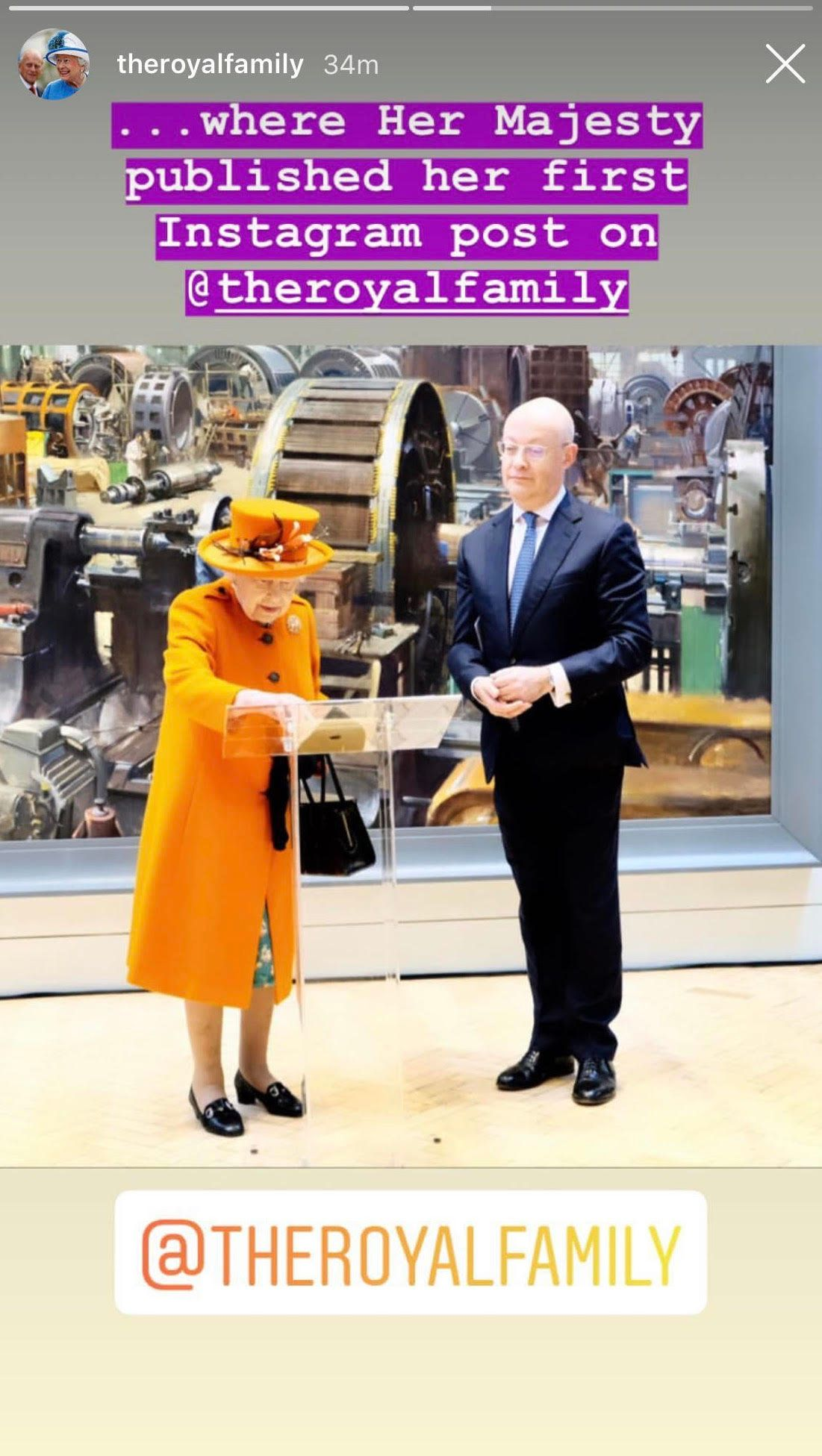 Queen Elizabeth II Shares First Instagram Post, And It's A