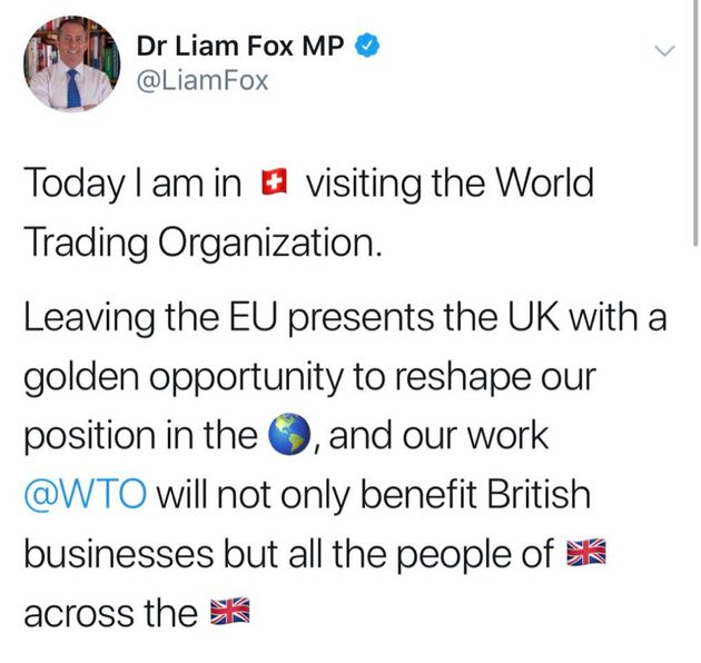 It's Three Weeks Till Brexit And The International Trade Secretary Just Forgot The Name Of The World...