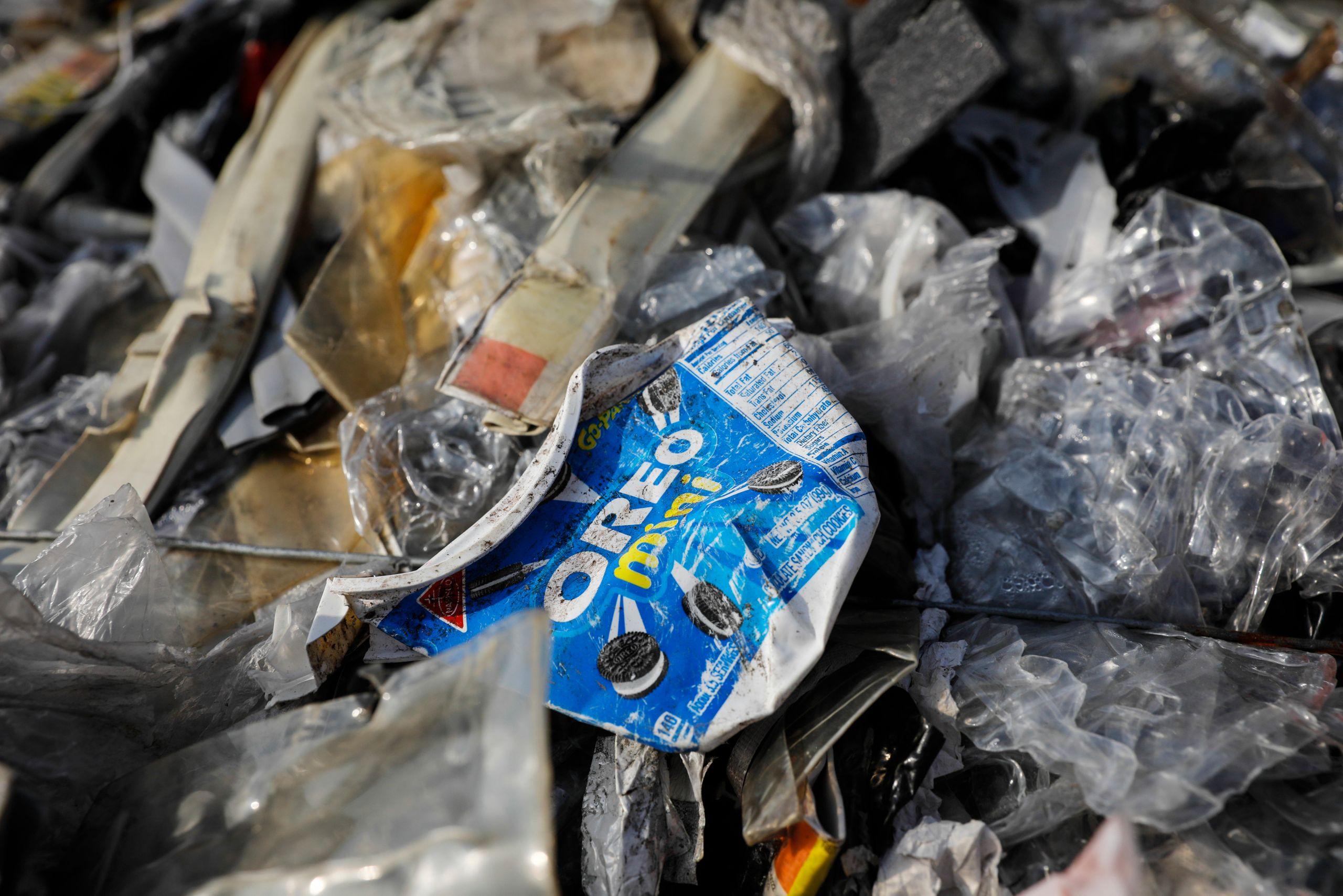Postconsumer plastic from the U.S. at a dumpsite in Ipoh, Jan. 30. The bulk of discarded plastics, including items put i