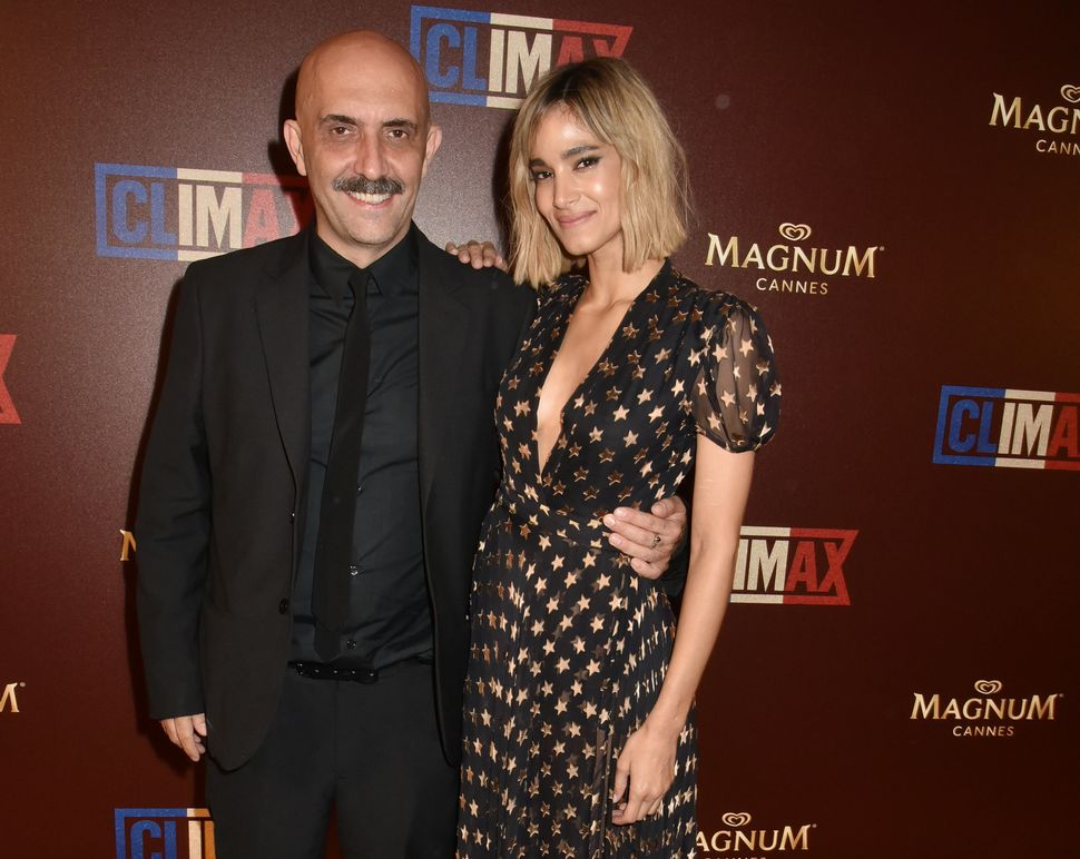 Gaspar Noé and Boutella at the Cannes Film Festival in May 2018.