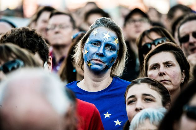 Pro-EU-Demonstrantinnen in