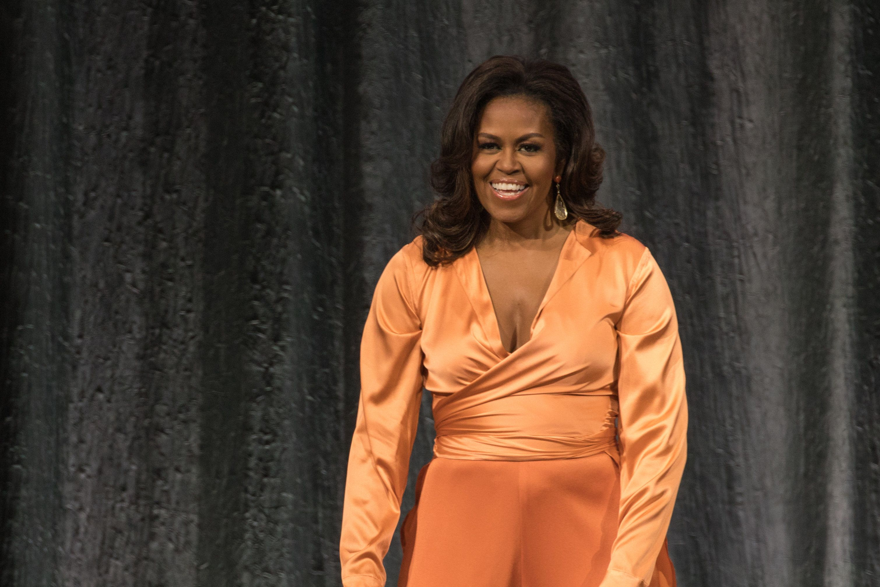 AUSTIN, TEXAS - FEBRUARY 28: Former First Lady Michelle Obama attends 'Becoming: An Intimate Conversation with Michelle Obama' at the Frank Erwin Center on February 28, 2019 in Austin, Texas. (Photo by Rick Kern/WireImage)
