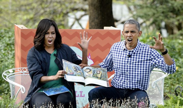 Michelle said former president Barack Obama loves the kids' book <i>Where the Wild Things Are, </i>a title the couple used to read at the Easter Egg Roll event at the White House.