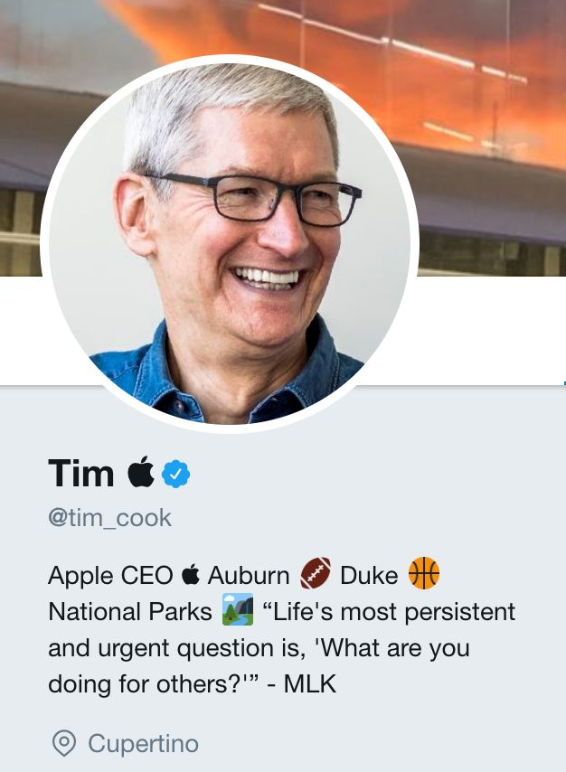 Tim Cook Subtly Shades Trump By Changing His Name On