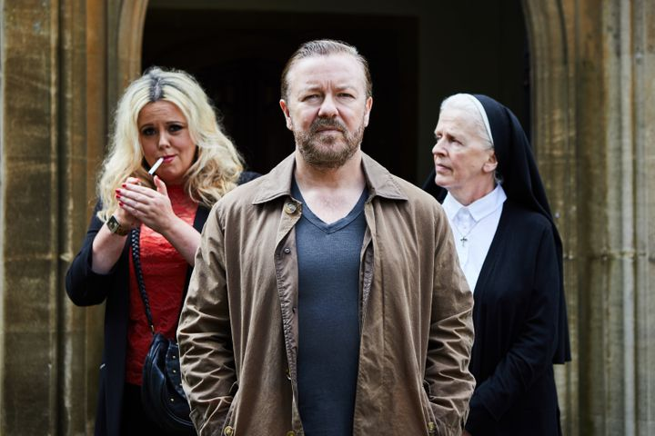 "Ricky Gervais in ""After Life"" on Netflix."